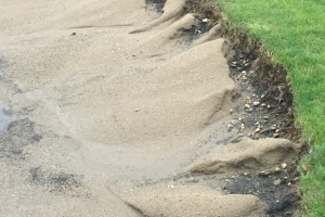 Non-Renovated Bunker Face After Rain
