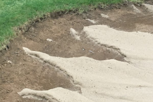 Renovated Bunker Sand After Rain